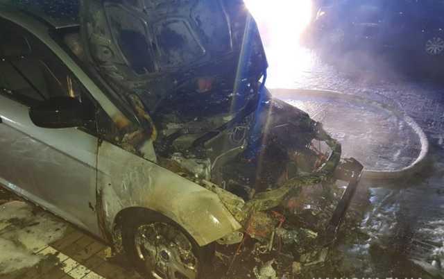 На Волыни сожгли машину журналистки