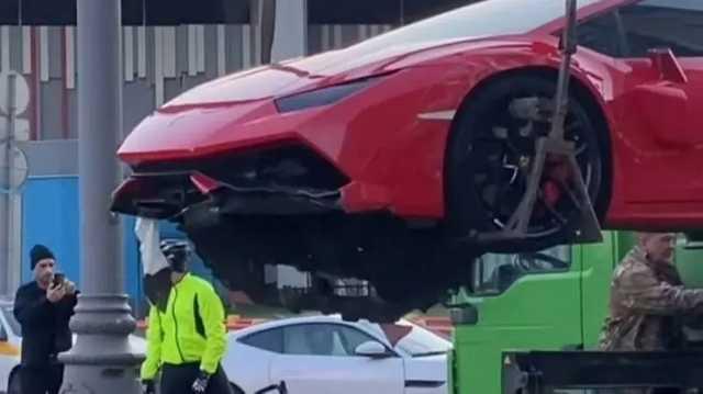 """В Москве Lamborghini, Porsche Panamera и Infiniti устроили """"самое дорогое ДТП весны"""""""