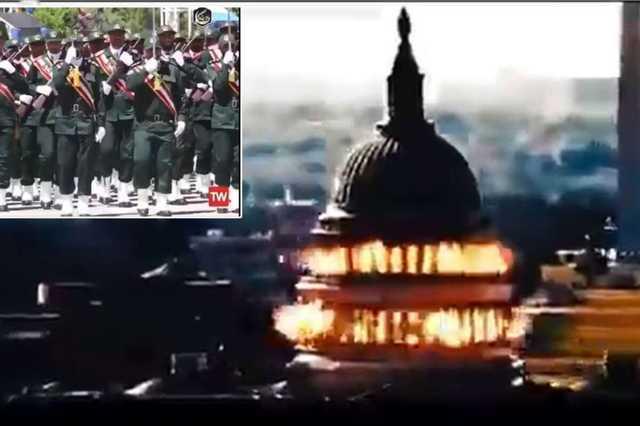 Государственное телевидение Ирана показало видео со взрывом Капитолия США