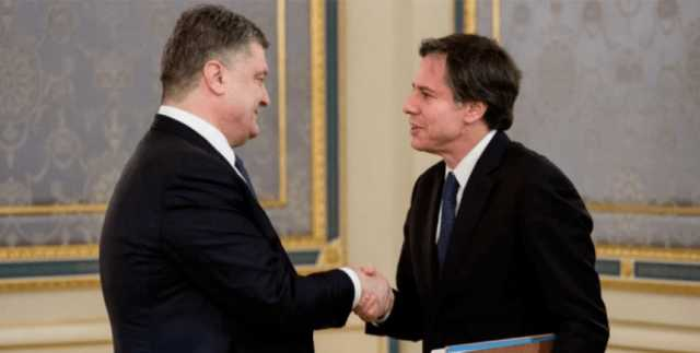Порошенко похвастался якобы двухсторонней встречей с Блинкеном, показав фото 2015 года