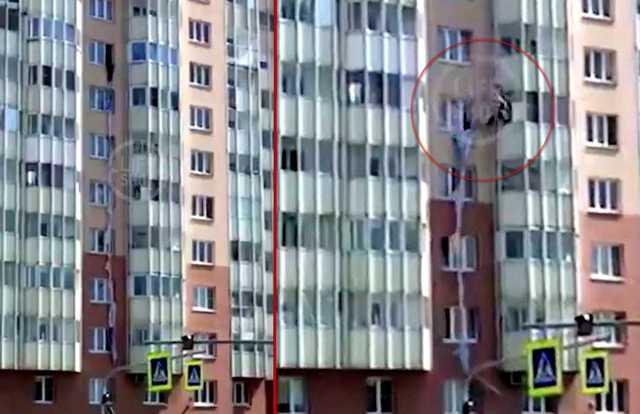 Женщина разбилась, когда спускалась по простыням с 9-го этажа