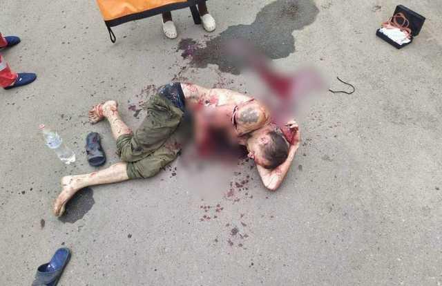Опубликованы кадры из Молочанска, где мужчина взорвал в руках гранату из-за ссоры с работодателем