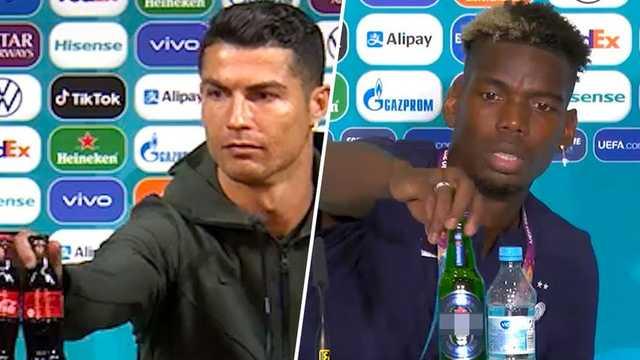 УЕФА потребовал от игроков не трогать бутылки спонсоров на пресс-конференциях Евро-2020
