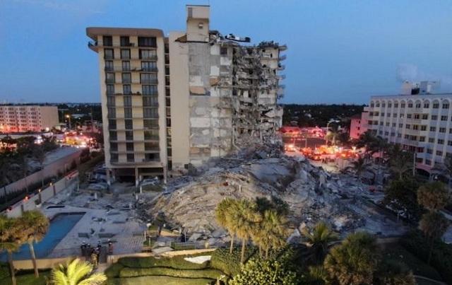 Число жертв обрушения дома в Майами выросло до 10, под завалами — 151 человек