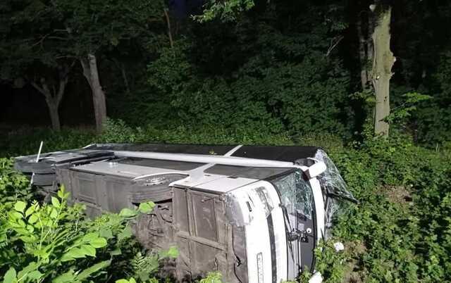 На Ривненщине перевернулся автобус Киев-Вроцлав: более 20 пострадавших