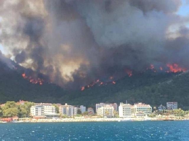Голые горы без леса. Появились фото последствий пожара на турецком курорте Бодрум