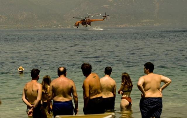 В Греции, где бушуют пожары, зафиксировали экстремальную жару