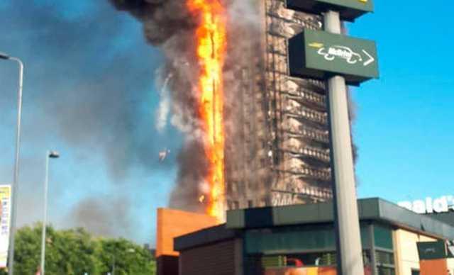 В Милане вспыхнула многоэтажка: здание превратилось в горящий факел