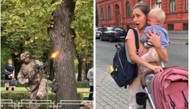 ВС Латвии «воевали с агрессором» в центре Риги, вызвав панику среди местных жителей