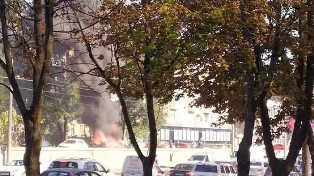 В центре Днепра взорвался автомобиль