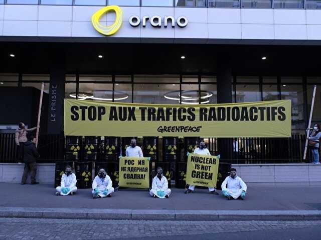 В Россию ввезут свыше тысячи тонн урановых отходов из Франции. Greenpeace протестует